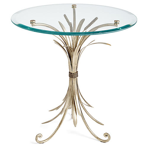 Wheat-Sheaf Side Table, Silver