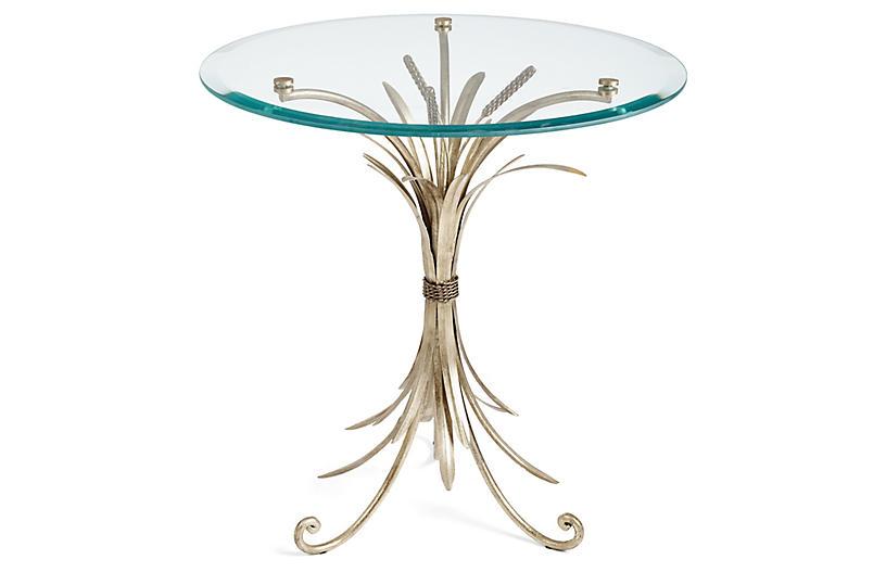 Wheat-Sheaf Side Table, Silver