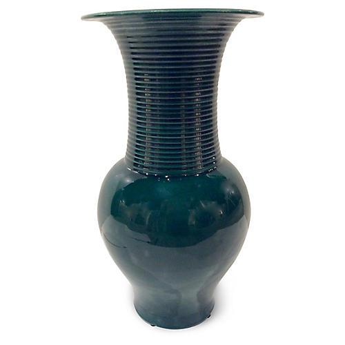 """15"""" Elliott Vase, Dark Jade"""