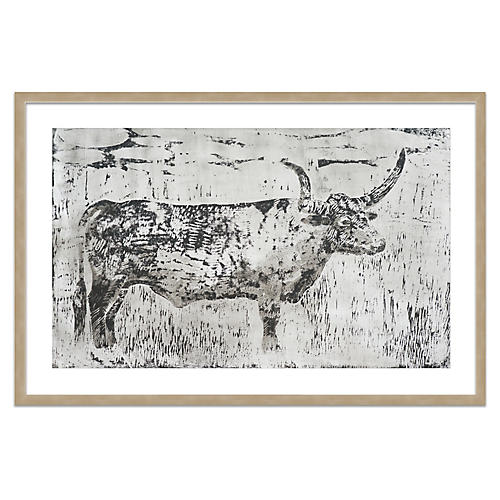 Cow Etching, Mary H. Case