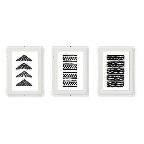 Abstract Triptych-Black, Adrienne Wong