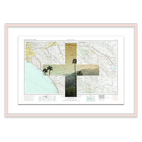 Santa Ana Map Christine Flynn Maps, Natural