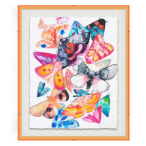 Hayley Mitchell, Butterflies IV, Acrylic Frame