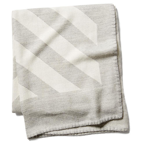 Grinda Throw, Heather Gray