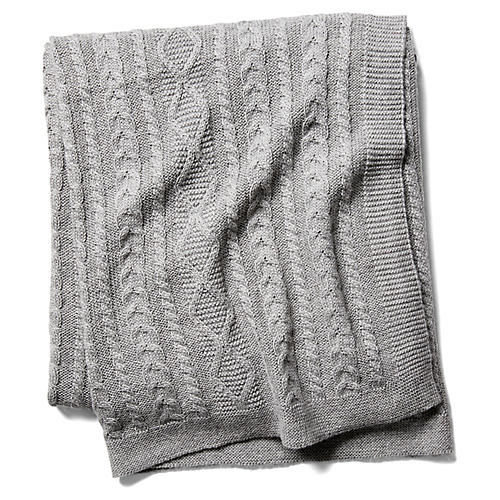 Howard Cable Throw, Gray