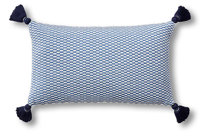 Ella 12x20 Lumbar Pillow, Periwinkle