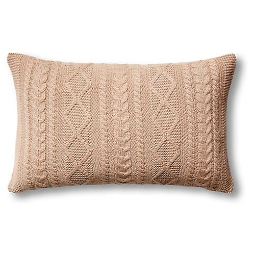 Howard 12x20 Cable Pillow, Light Camel
