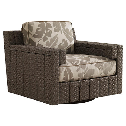 Olive Swivel Glider Lounge Chair