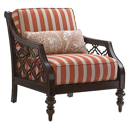 Black Sands Chair, Orange/White