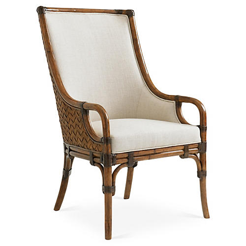 Marabella Upholstered Armchair, Ivory