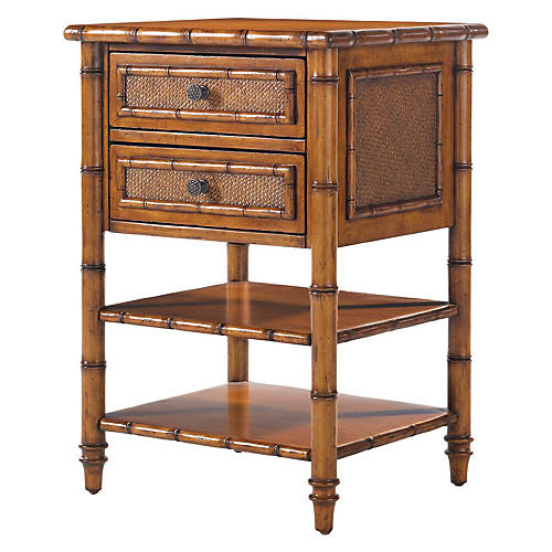 Ginger Island Nightstand, Golden Umber
