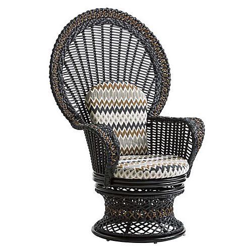 Marimba Fan Accent Chair, Gold Sunbrella