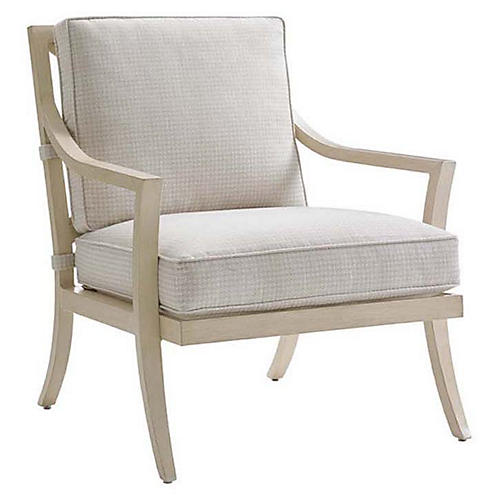 Misty Garden Accent Chair, Ivory Sunbrella