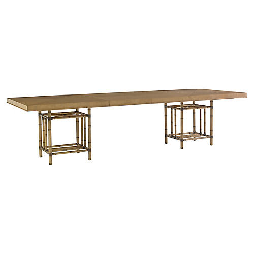 Caneel Bay Dining Table, Warm Umber