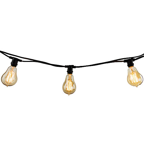 "168"" Filament String Lights, Yellow"