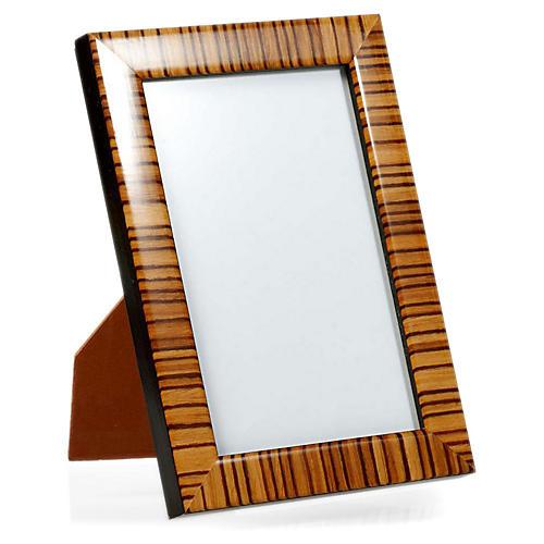 Zebra Frame, 4x6, Tan