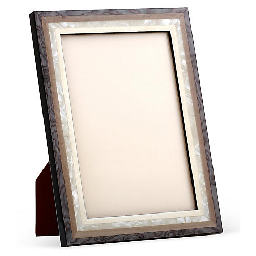 Mother-of-Pearl Frame, 8x10, Gray/White