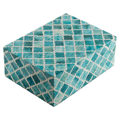 "8"" Moroccan Tile, Turquoise"