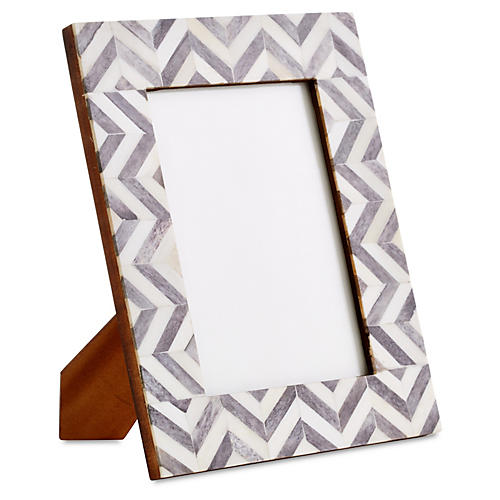 Chevron Frame, Gray