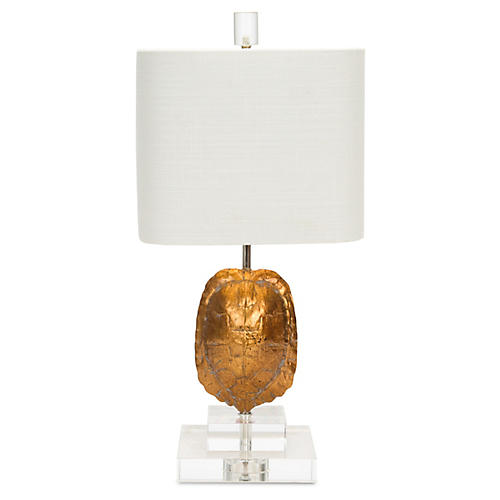 Tortoise Table Lamp, Gold
