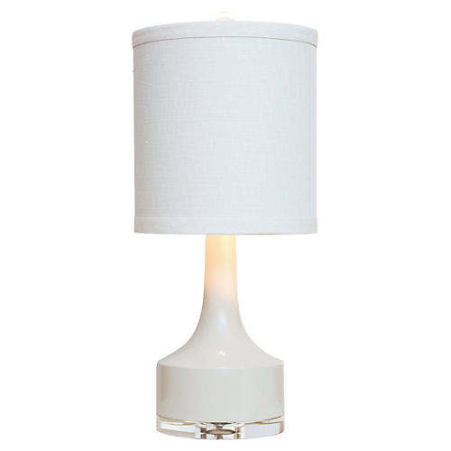 Holmby Table Lamp, Cream Gloss