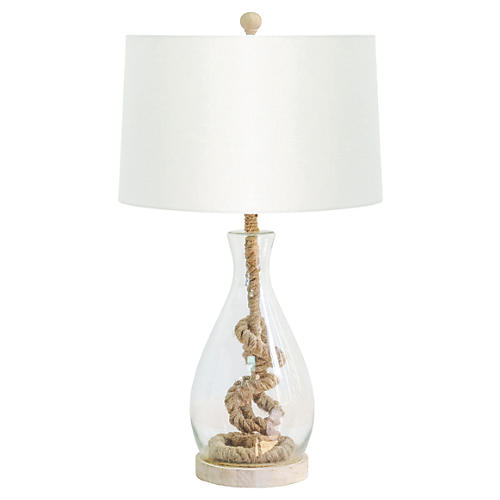 Nantucket Table Lamp, Jute