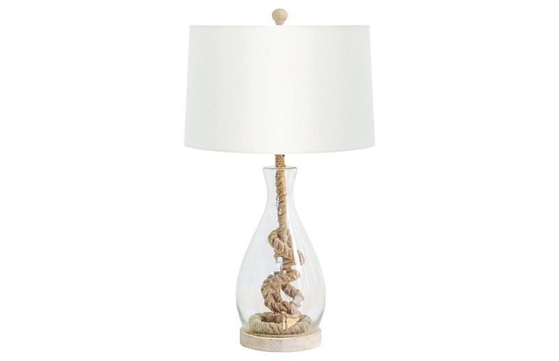 Nantucket Table Lamp, Jute