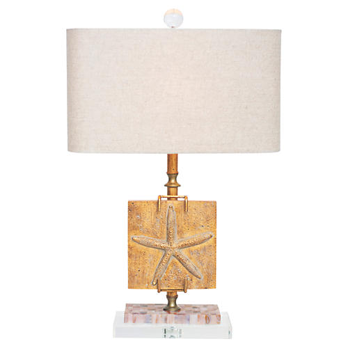 Ponte Vedra Table Lamp, India Gold