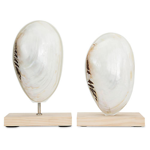 Asst. of 2 Mother-of-Pearl Finials