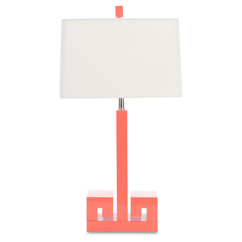 Astor Table Lamp, Coral