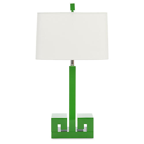 Astor Table Lamp, Kelly Green