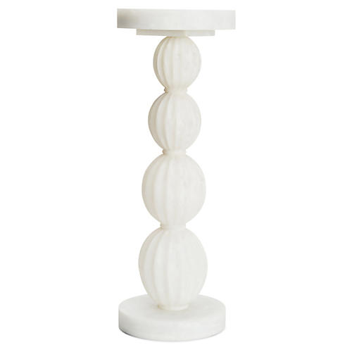 Stacked Gourd Side Table, White