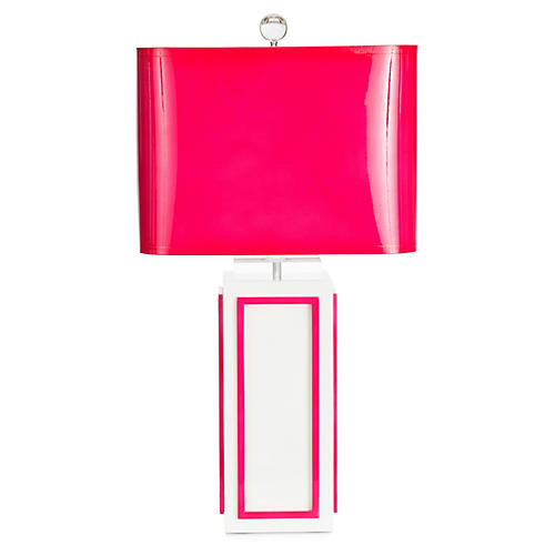 Lagos Table Lamp, Fuchsia