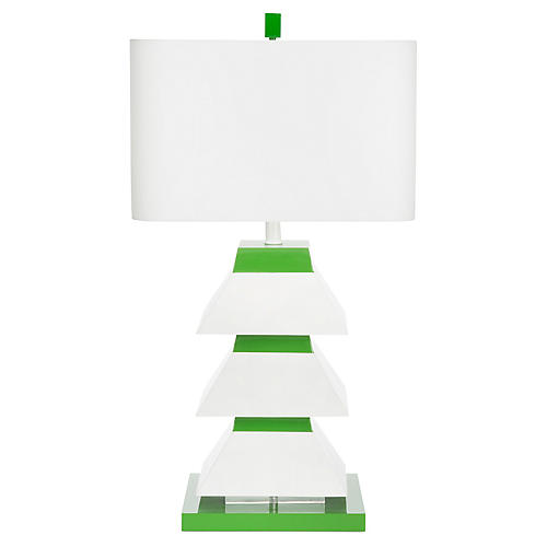 Erzi Table Lamp, Kelly Green