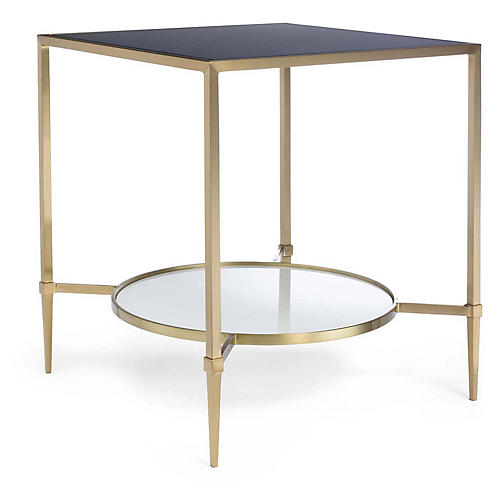 Duncan Side Table, Black/Gold