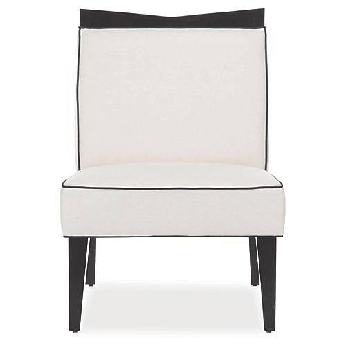 Caldwell Slipper Chair, Pearl