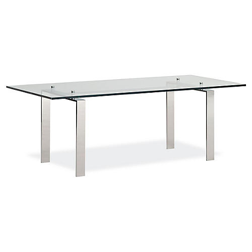 Langham Desk, Stainless Steel