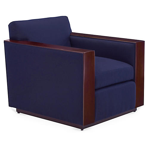 Modern Metropolis Club Chair, Ultramarine