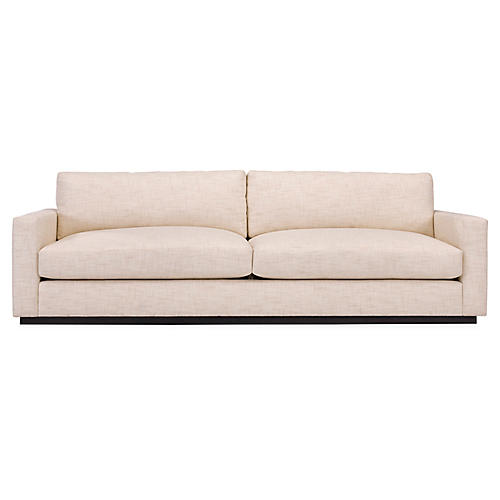 Desert Modern Low-Arm Sofa, Wheat Linen