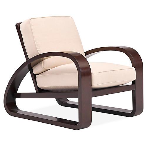 Lounge Moderne Chair, Beach Sand Linen