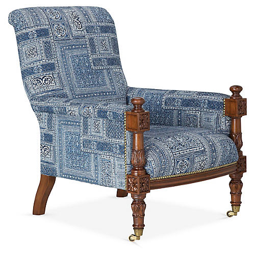 Harrow Lounge Chair, Lapis