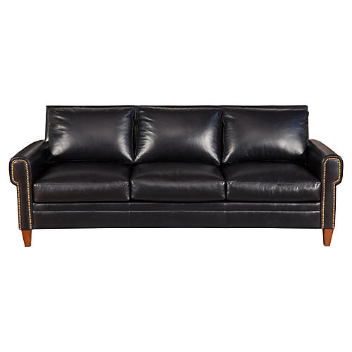 "Alfie 87"" Leather Sofa"