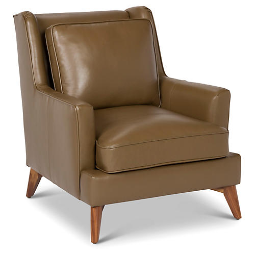 Beverlywood Leather Chair, Cocoa