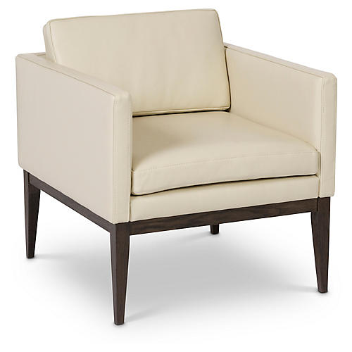 Bari Chair, Cream Leather