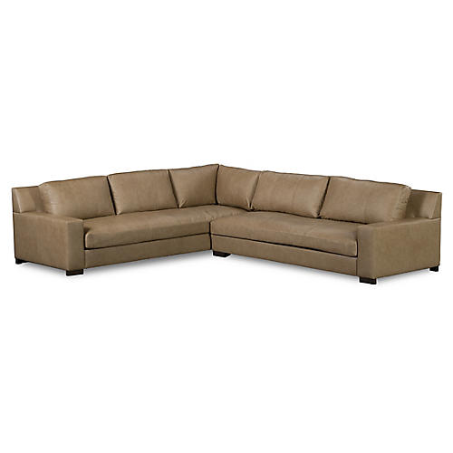 Chamberlain Sectional, Sand Leather