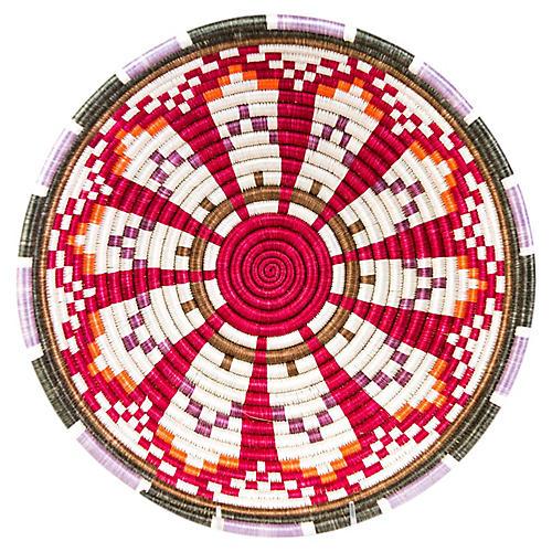 """14"""" Akagera Basket, Rose/Multi"""