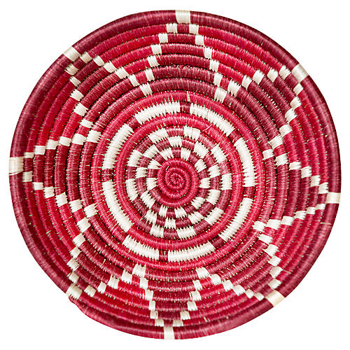"""6"""" Thousand Hills Small Basket, Fiery Red"""