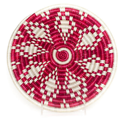 Fire Welcome Trivet, Fuchsia/White