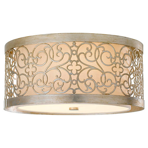 Arabesque Flush Mount, Silver
