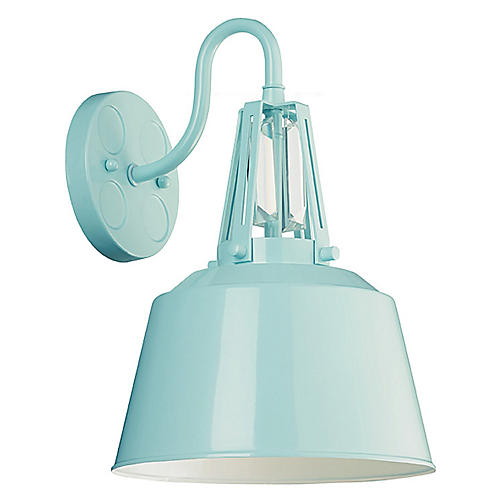 Redmond 1-Light Sconce, Blue